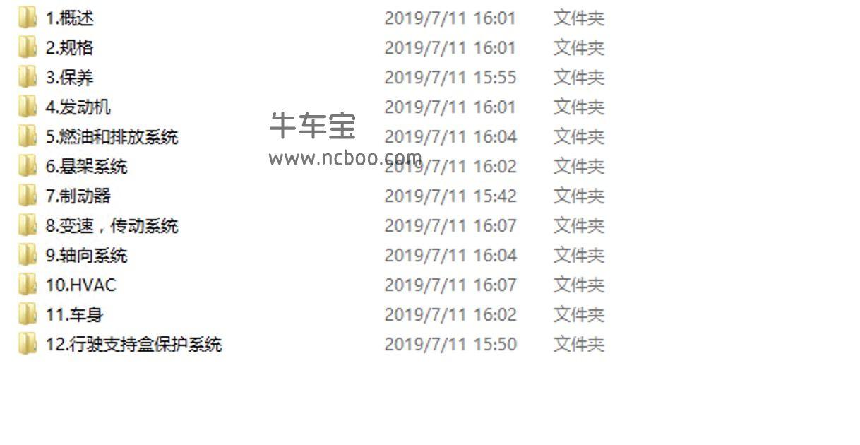 2017-2019款广汽本田缤智维修手册和电路图(含故障码)