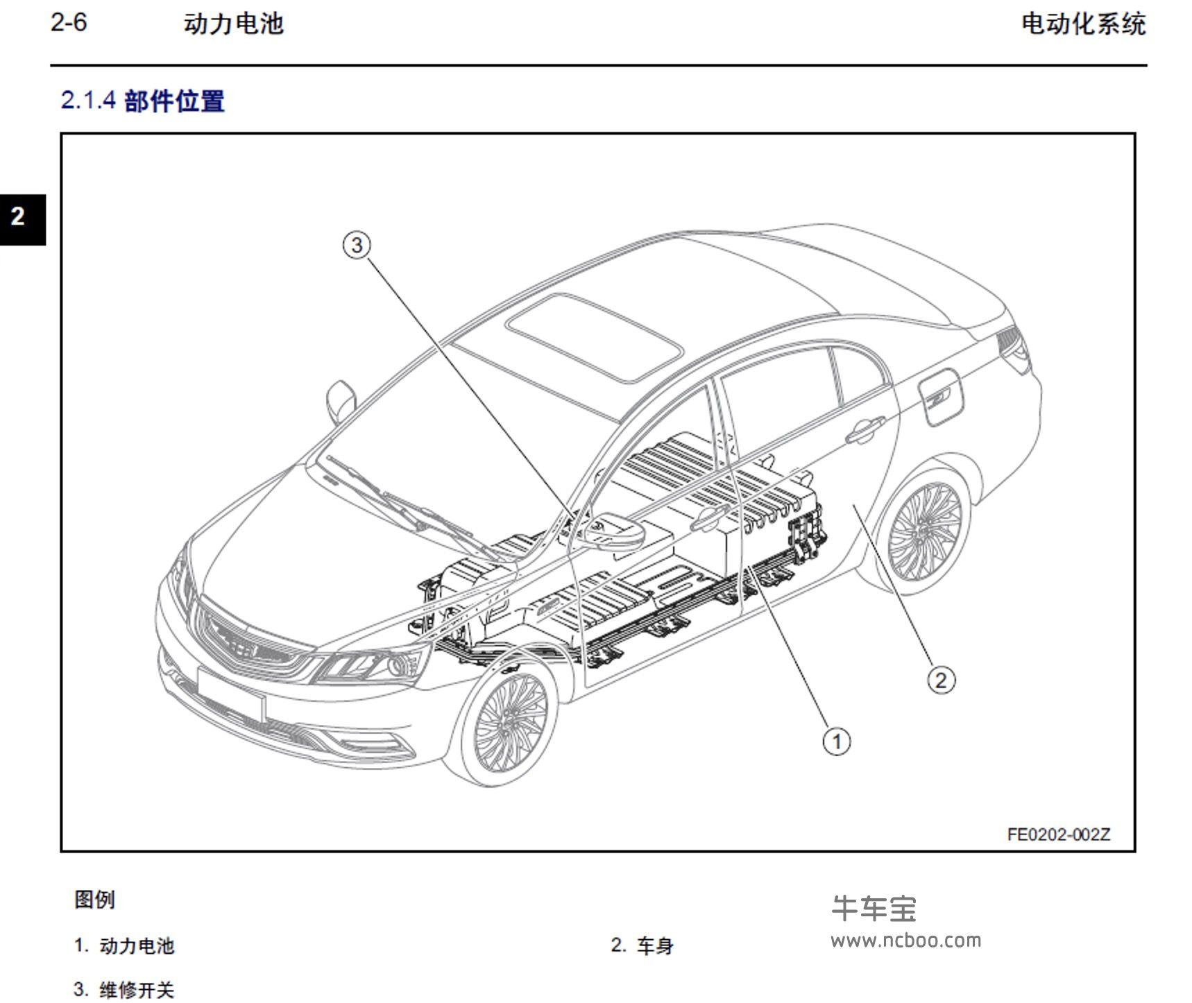 2017-2019款吉利帝豪EV300(新能源)原厂维修手册和电路图