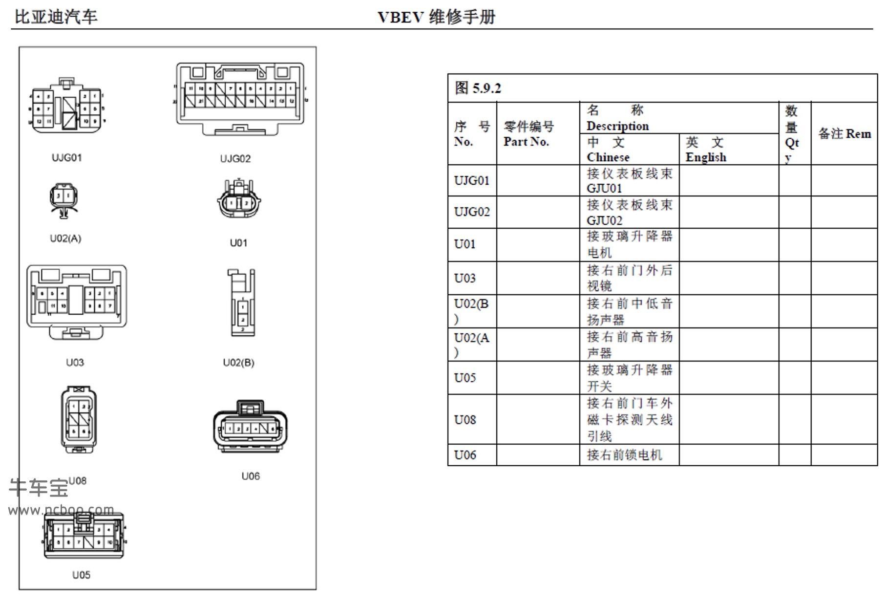 2017-2018款比亚迪E5(新能源)原厂维修手册和电路图下载