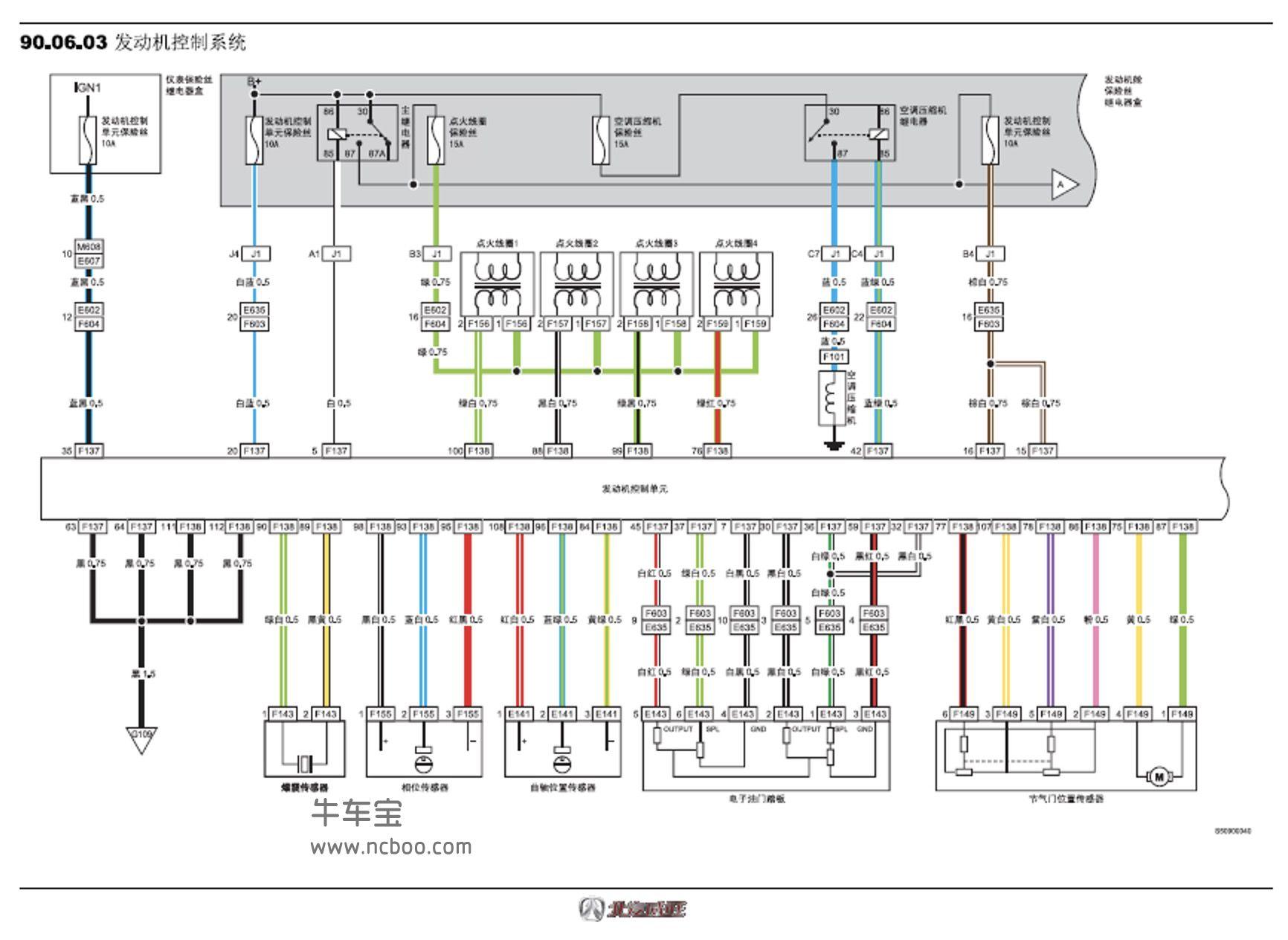 2016-2018款北汽威旺S50原厂电路图手册下载