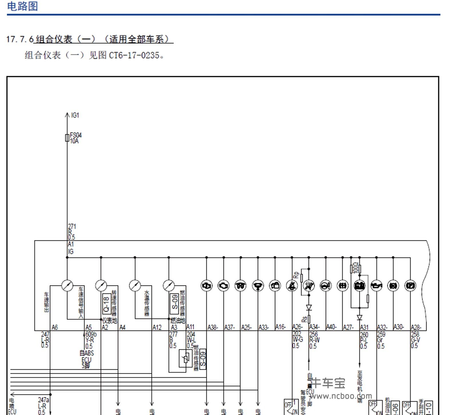 2017-2018款猎豹CT7柴油原厂维修手册和电路图下载