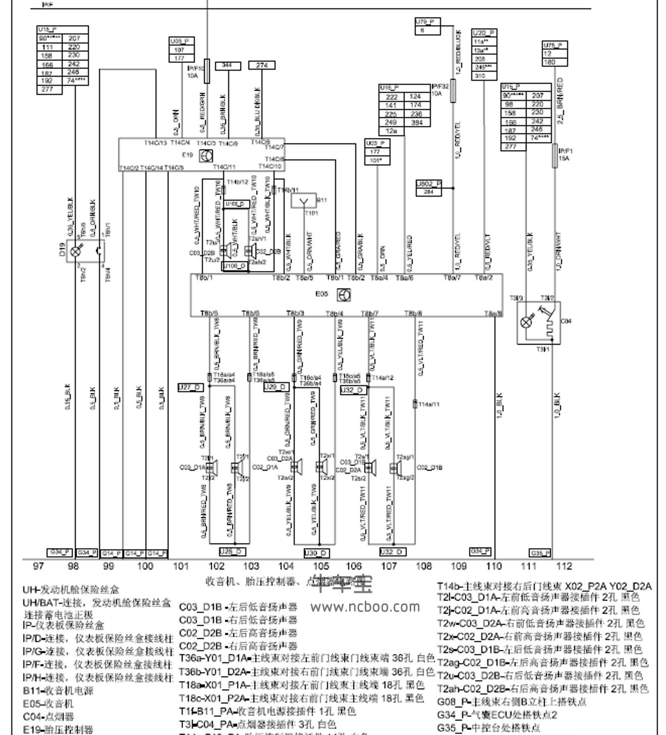 2013-2014款华晨中华H530原厂电路图资料下载