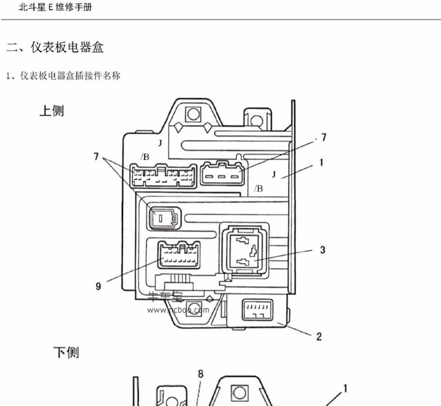 2017-2018款昌河新北斗星X5E原厂电路图资料下载