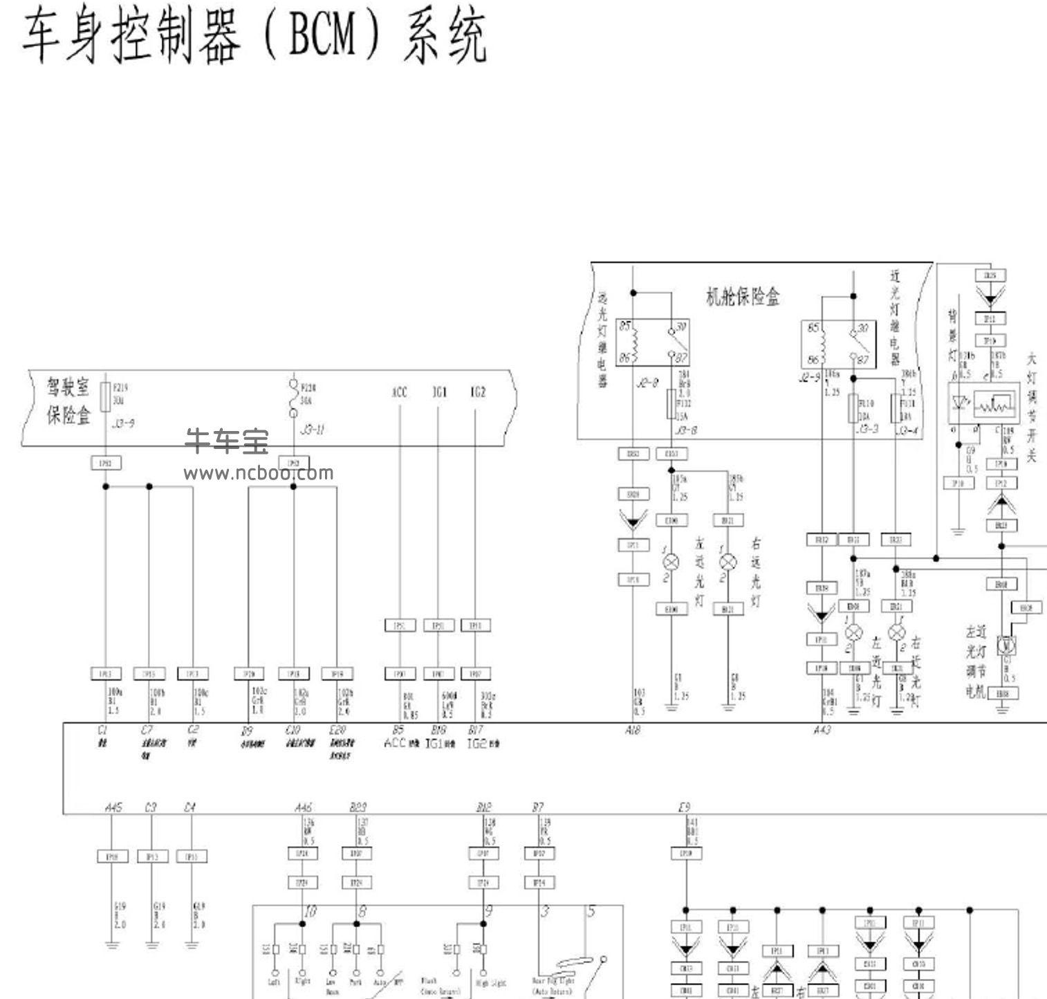 2016-2017款华晨金杯S70(蒂阿兹)原厂电路图资料下载