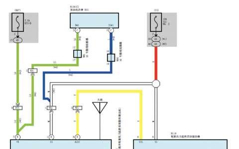 丰田皇冠传动系统 电源,网络 悬架 胎压电路图