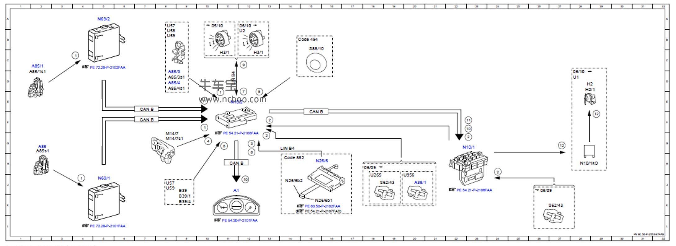 2010-2011款奔驰C180L原厂维修手册和电路图