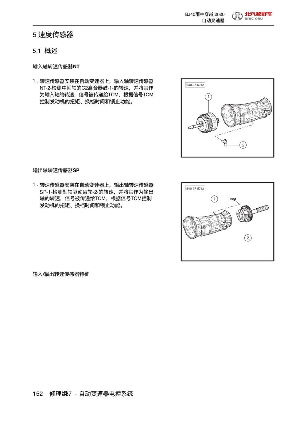 2020款北京BJ40速度传感器(雨林穿越版)1